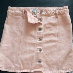 Pink Jean Mini Skirt